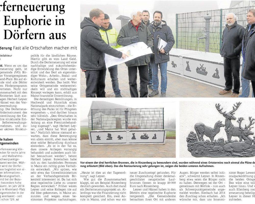 Bericht aus der Nahe-Zeitung vom 27.01.2015