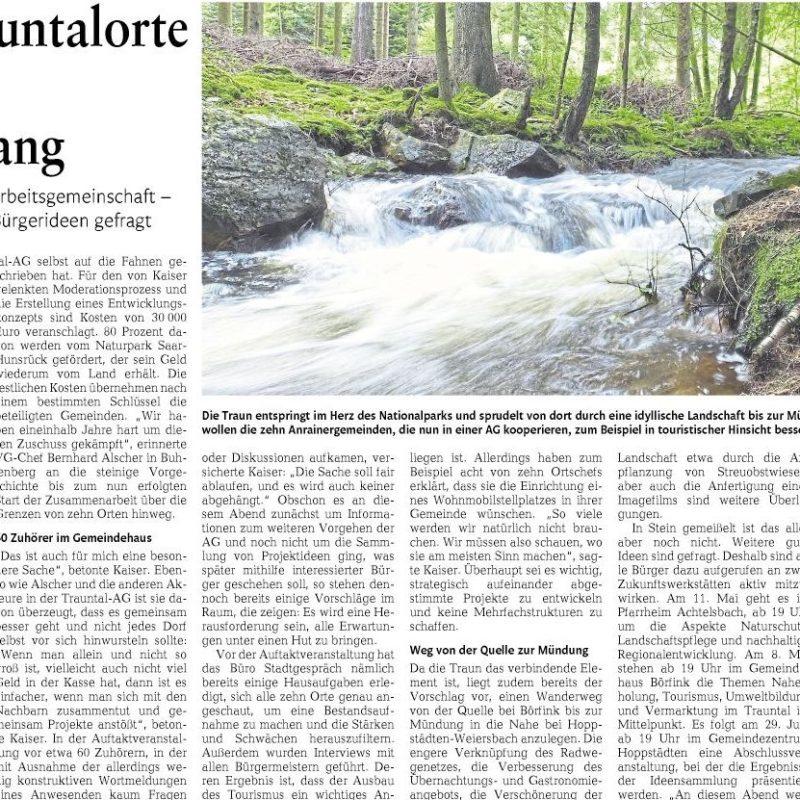 Nahe-Zeitung, 08.04.2017